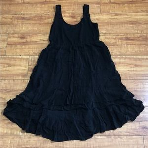 Black baby doll dress from Anthropologie